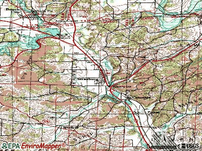 Strasburg topographic map