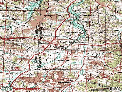 Sugarcreek topographic map