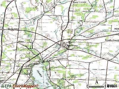 Sunbury topographic map