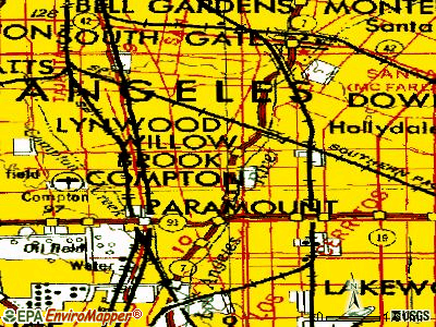 East Compton topographic map