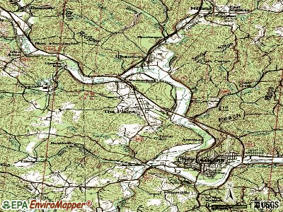The Plains topographic map
