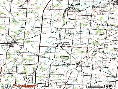 Thurston topographic map