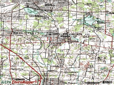 Uniontown topographic map
