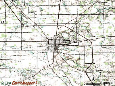 Upper Sandusky topographic map