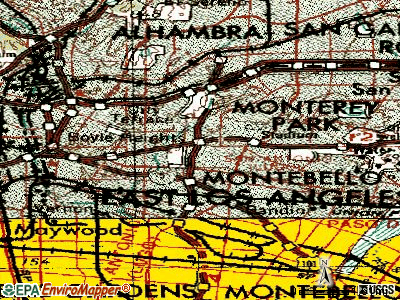 East Los Angeles topographic map