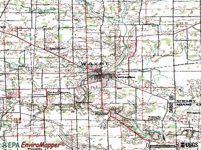 Versailles topographic map