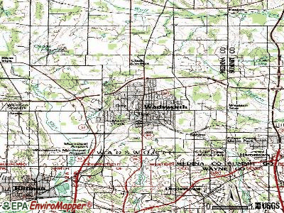 Wadsworth topographic map
