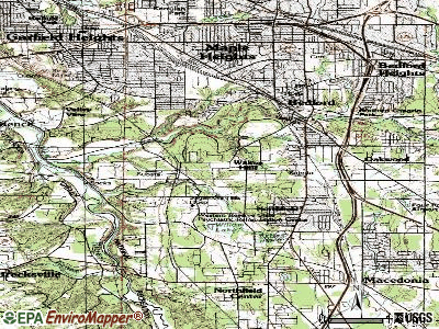 Walton Hills topographic map