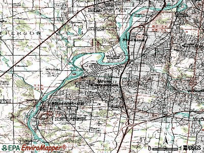 West Carrollton City topographic map