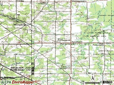 West Farmington topographic map