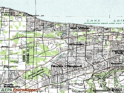 Westlake topographic map