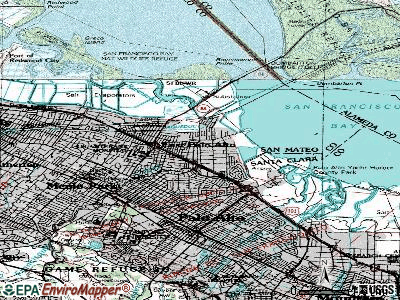 East Palo Alto topographic map