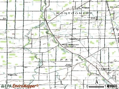 West Millgrove topographic map