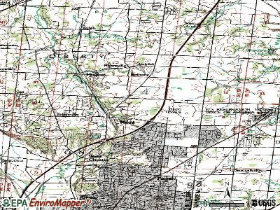 Wetherington topographic map
