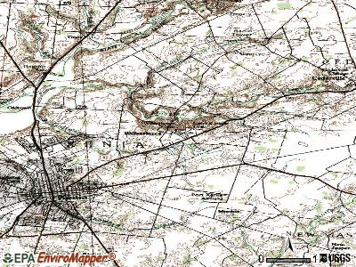 Wilberforce topographic map