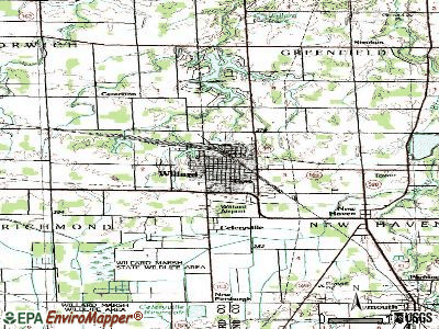 Willard topographic map