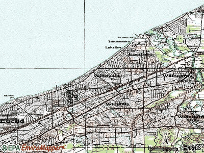Willowick topographic map