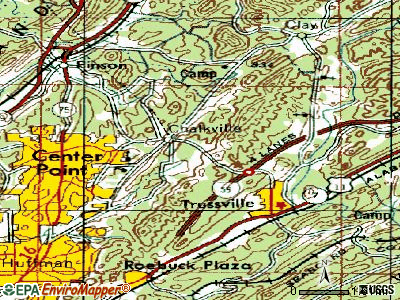 Grayson Valley topographic map