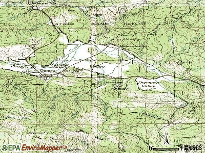 East Quincy topographic map