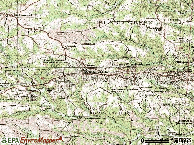 Wintersville topographic map