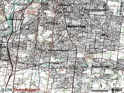 Woodbourne-Hyde Park topographic map