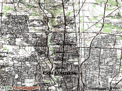 Worthington topographic map