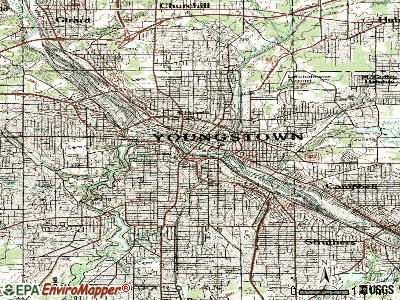 Youngstown topographic map