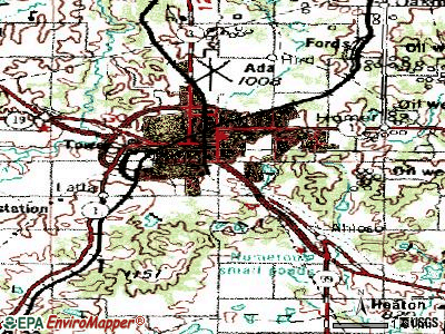 Ada topographic map