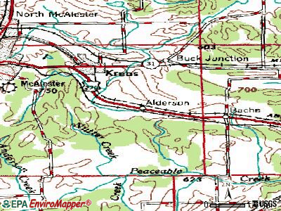 Alderson topographic map