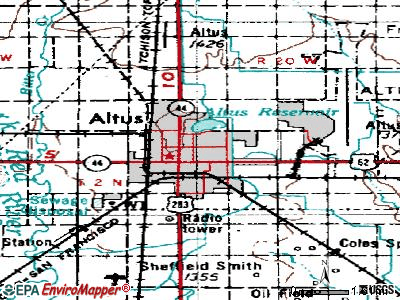 Altus topographic map