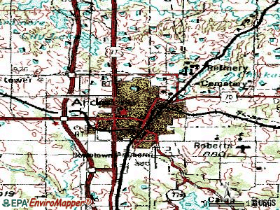 Alva topographic map