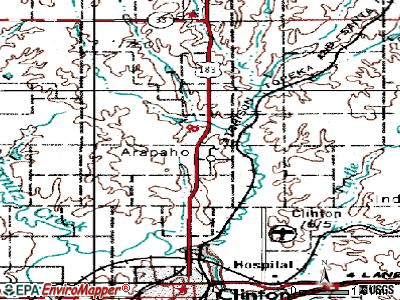 Arapaho topographic map