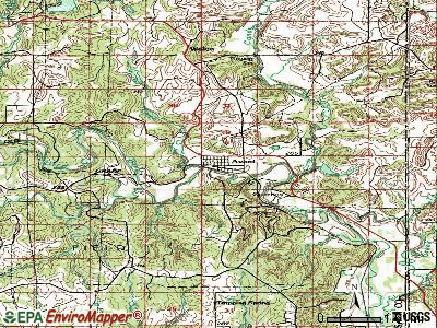 Avant topographic map