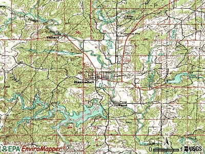Barnsdall topographic map