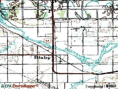 Bixby topographic map