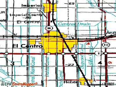 El Centro topographic map