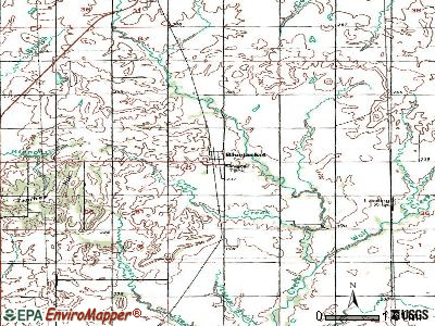 Bluejacket topographic map