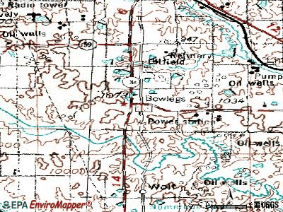 Bowlegs topographic map