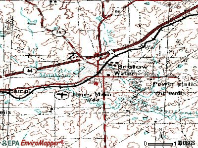 Bristow topographic map