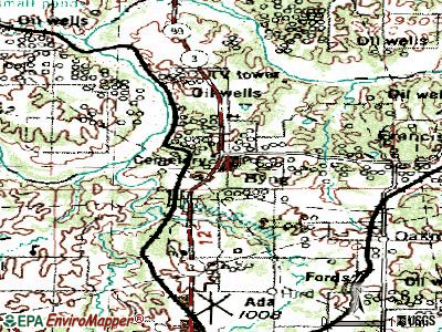 Byng topographic map