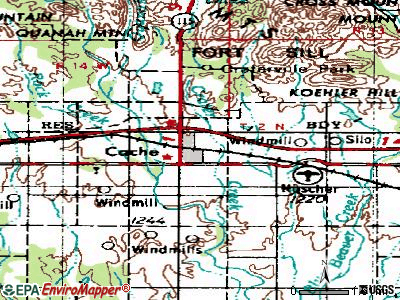 Cache topographic map