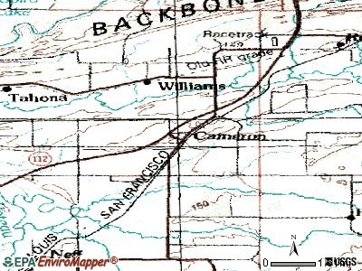 Cameron topographic map