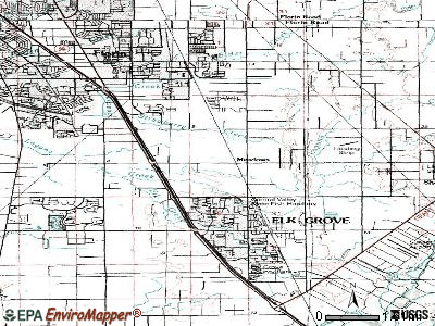 Elk Grove topographic map