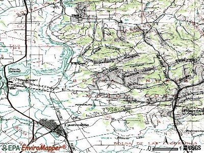 Elkhorn topographic map