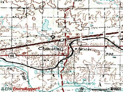 Chandler topographic map