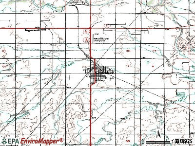 Cherokee topographic map