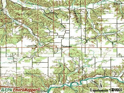 Colcord topographic map