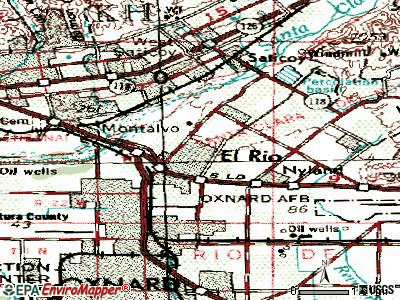 El Rio topographic map