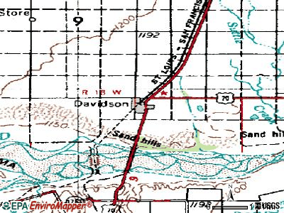 Davidson topographic map