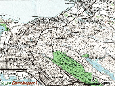 El Sobrante topographic map